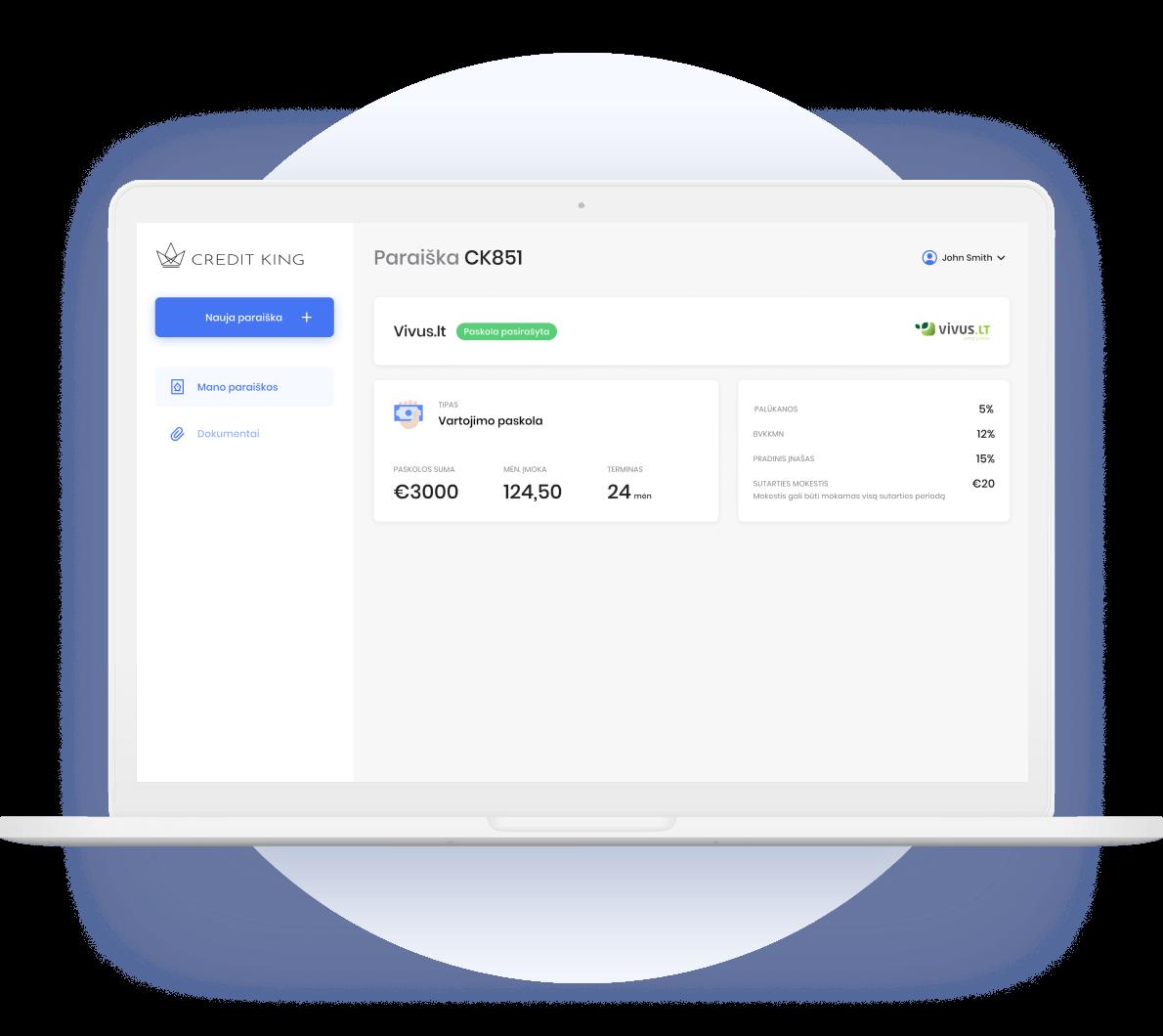 Credit King aplikacija